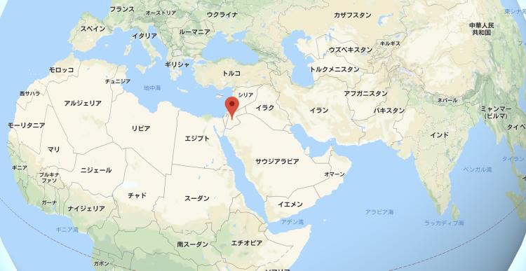 ヨルダンの地図